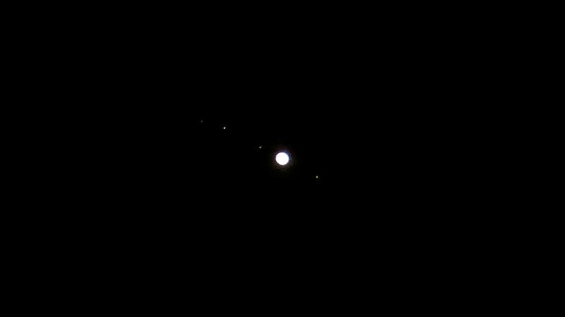 木星と4つの衛星